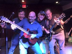 Band hijinx, with Willie Lou, Dave Holtzman, Tim Perks, and Randy Lippincott