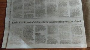 "Little Red Rooster in the Times of New Jersey's ""Good Times"" section"